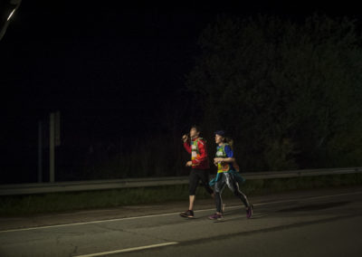 Just 2 people run at 5:30 AM in Murillo de la Limas, in the southern part of Navarre, one of the places where Basque language is less spoken. (Gari Garaialde / Bostok Photo)