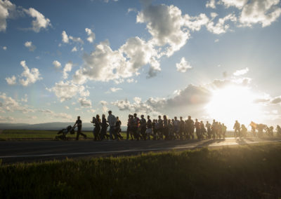People run on the 20th Korrika. Lodosa. (Gari Garaialde / bOSTOK pHOTO)