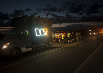 Participants in 20th Korrika run following the Korrika van. (Gari Garaialde / Bostok Photo)