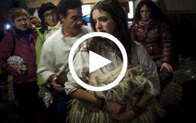 Shaking Cowbells. Women Playing Carnival Roles in Zubieta